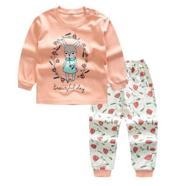 Autumn Baby Clothing Set Baby Boys Girls Clothes Long Sleeve T-shirt +dresskily-dresskily