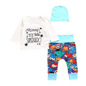 Pudcoco 2017 Fashion Newborn Infant Baby Boys Super hero Romper+Pants Leggings Outfitsdresskily-dresskily