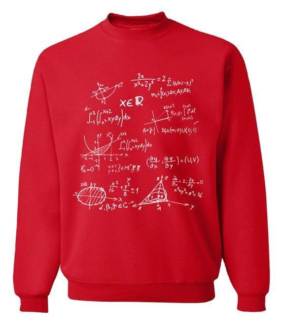 Funny Mathematical Formulas science sweatshirt men 2017 spring winter fashion hoodies hipdresskily-dresskily