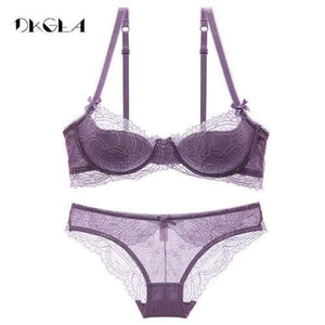 Fashion Young Girl Bra Set Plus Size D E Cup Thin Cottondresskily-dresskily