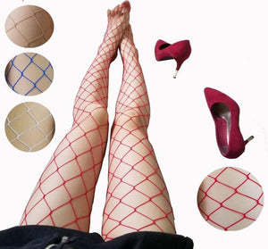 White red SEXY women high waist fishnet stocking fishnet club tights pantydresskily-dresskily