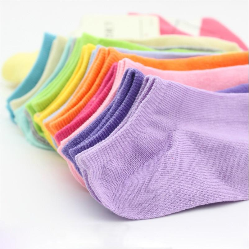 Free Shipping 10 Pairs=20pcs/lot Women Socks,Fluorescence Cotton Sock,Candy Color Fashion Ankle Boatdresskily-dresskily