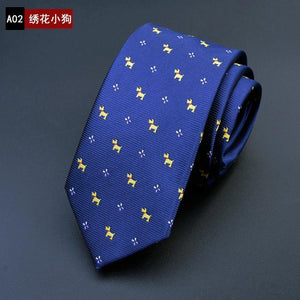 2017 New Business Men's Ties Fashion Dog Design Mens Tie Polyesterdresskily-dresskily