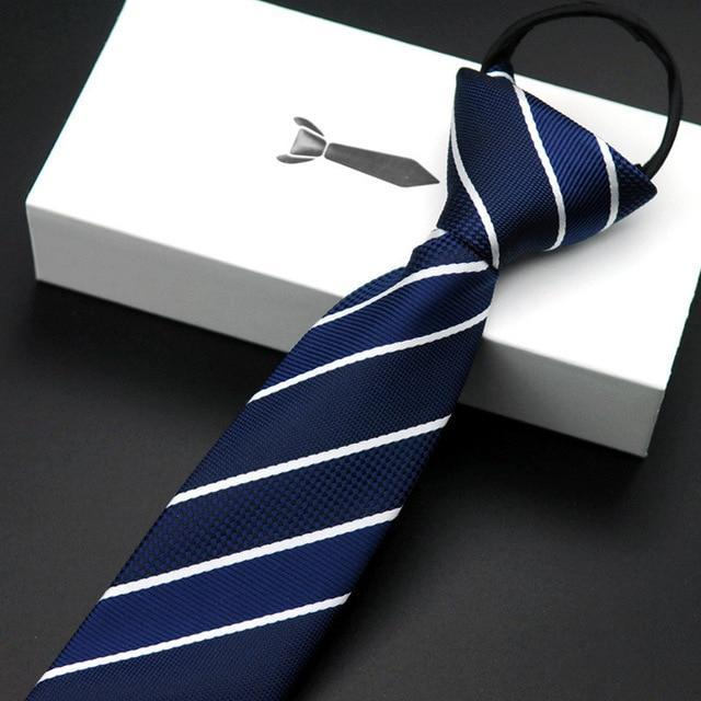 Zipper Tie 5.5cm Lazy Necktie Easy To Pull Men's Commercial Formaldresskily-dresskily