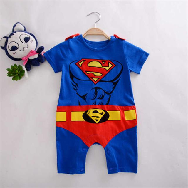 Toddler Superhero Costumes Infant Girls Boys Set Superman Supergirl Batman Romper Bebedresskily-dresskily