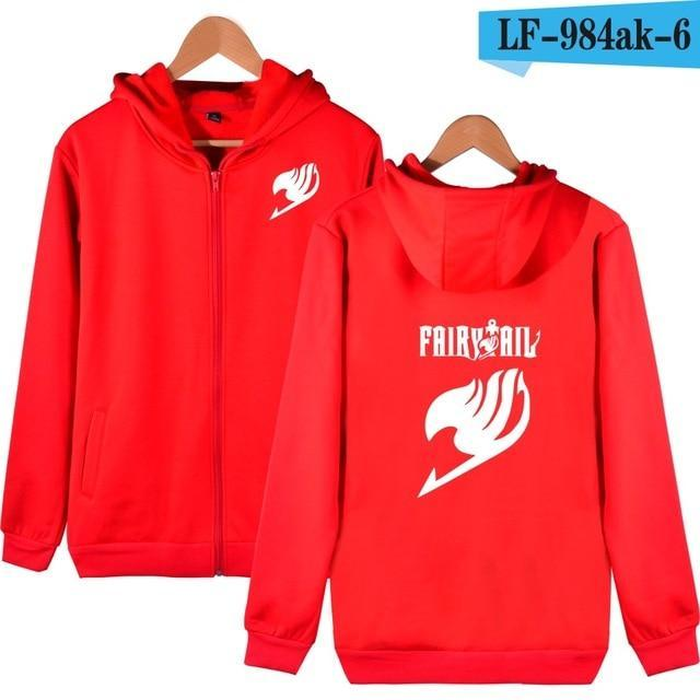 Fairy Tail Cartoon Hooded Sweatshirts Men Zipper Hoodies Classic Japanese Anime Coatsdresskily-dresskily