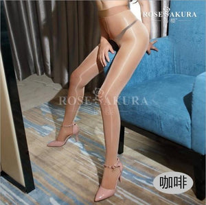 8D crotchless elastic magical stockings,high elasticity,anti hook sexy oil open-crotch high Shinydresskily-dresskily