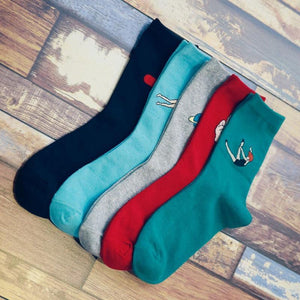 1Pair Autumn Winter Women casual Style Candy Color Cartoon Printing Cotton Socksdresskily-dresskily