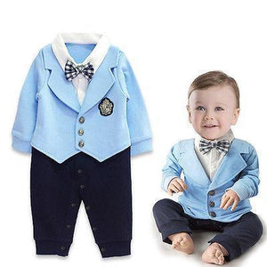 Baby Boy Gentleman Bow Party Suit Jumpsuit Rompers Fashion Clothing Formal Formaldresskily-dresskily