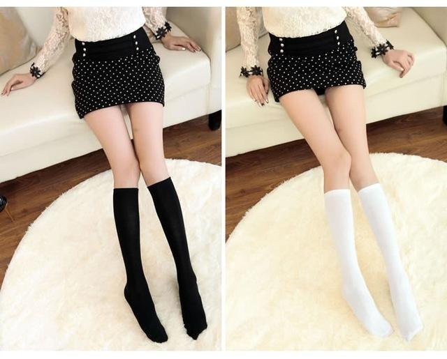 Cute & Sexy Women Knee High Socks Japanese JK School Uniform Velvetdresskily-dresskily