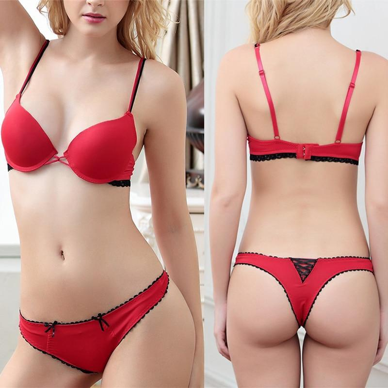Sexy women underwear seamless lace lingerie support wholesale bra and panties pushdresskily-dresskily