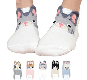 []Cute Pug Life funny socks women Korean harajuku cotton Stereo ear dogdresskily-dresskily
