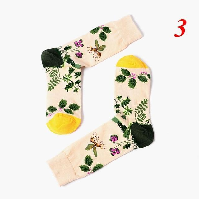 Popular Hosiery Cartoon Plant Cotton Socks Novelty Funny Pattern Women Mens Unisexdresskily-dresskily