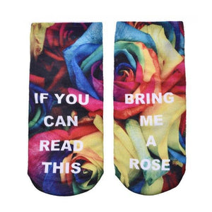 1 Pairs IF YOU CAN READ THIS Socks Women Funny White Lowdresskily-dresskily