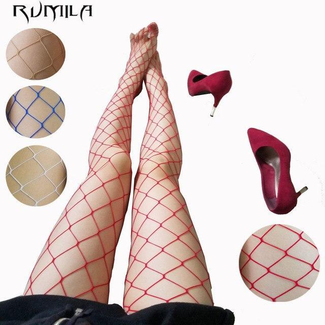 fashion red medium grid women high waist stocking fishnet club tights pantydresskily-dresskily