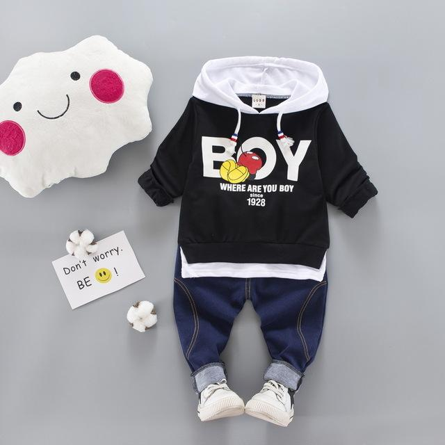 2017 autumn fashion Newborn Baby boys/Girls Clothes Cotton Hoodie Jacket+Jeans Pants 2pcsdresskily-dresskily