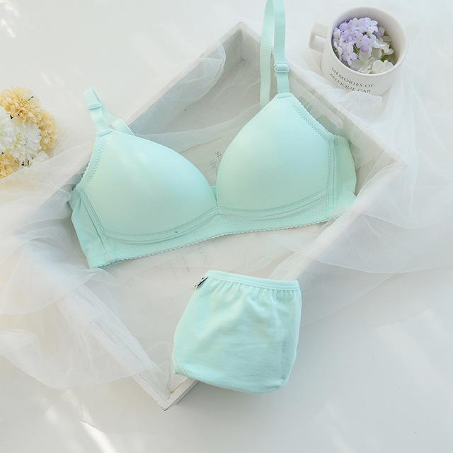 new fashion sexy womens bra and briefs set girls cotton pushdresskily-dresskily
