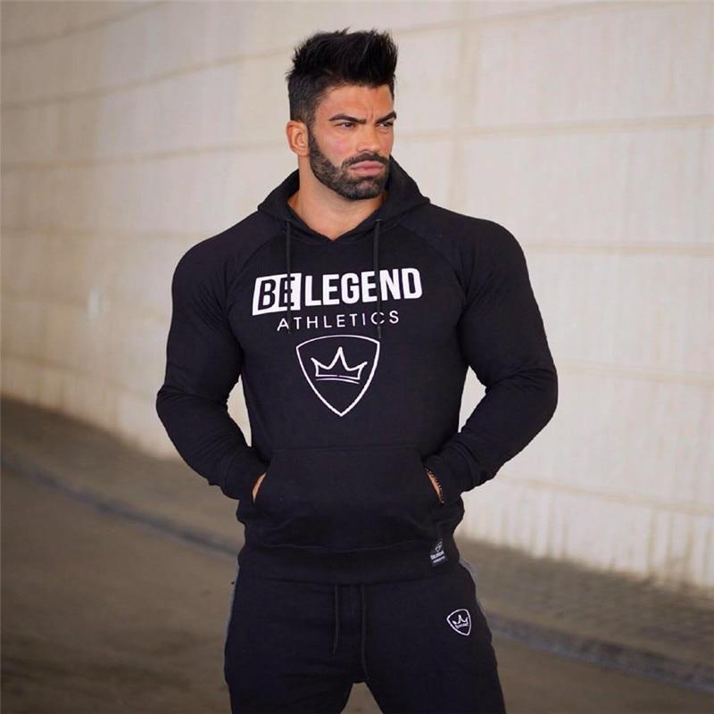 2017 Autumn new Men Hoodies Fashion Casual pullover male gyms Bodybuildingdresskily-dresskily
