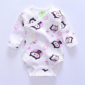 Top quality newborn Baby Bodysuit One-Pieces infant clothes Bodysuit Animal style Monkey/owldresskily-dresskily
