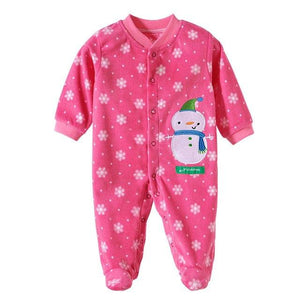 2017 Newborn Baby Clothes Polar Fleece Infant Baby Rompers Boy and Girldresskily-dresskily