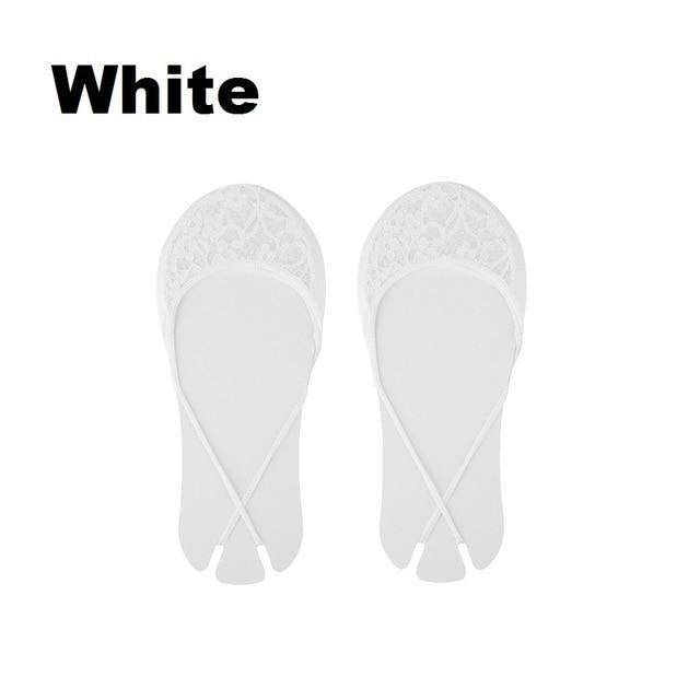 Fashion Women Socks Sexy Cotton Half feet Antiskid Invisible Liner No Showdresskily-dresskily