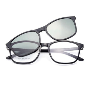 1623 Urltra-Light TR90 Eyeglasses Frame with Polarized Clip-on Sunshades for Womendresskily-dresskily