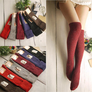 1pair Women Fashion socks Autumn winter long Knee Thick socks Women's Cottondresskily-dresskily