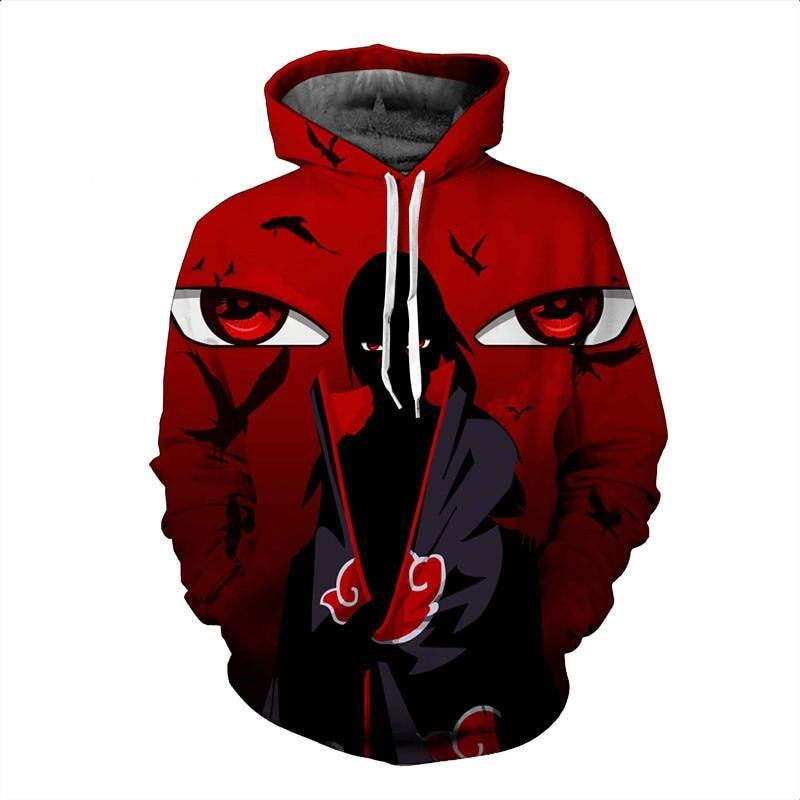 2017 new large size 3D Hoodie Naruto anime Uchiha Itach men womendresskily-dresskily