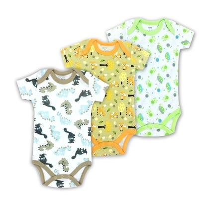 Free Shipping 3PCS 100%Cotton Infant Body Short Sleeve Clothing Similar Jumpsuit Printeddresskily-dresskily