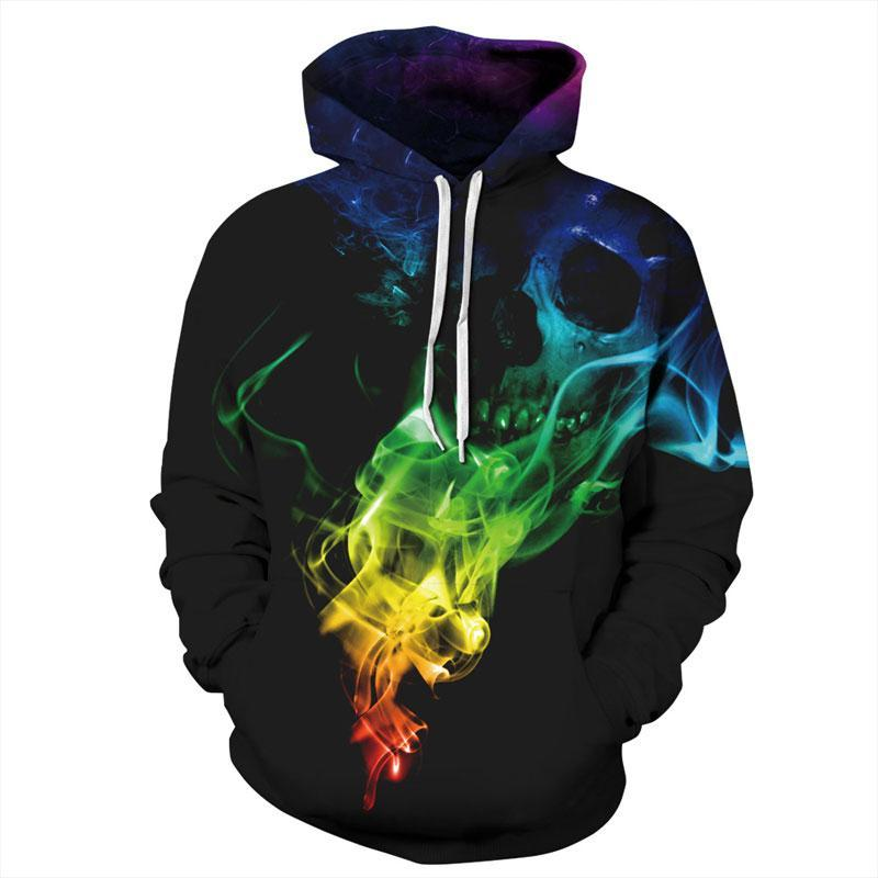 Mr.1991INC Top Designed Hoodies Men/Women 3d Sweatshirts Print Colorful Smoke Skulls Thindresskily-dresskily