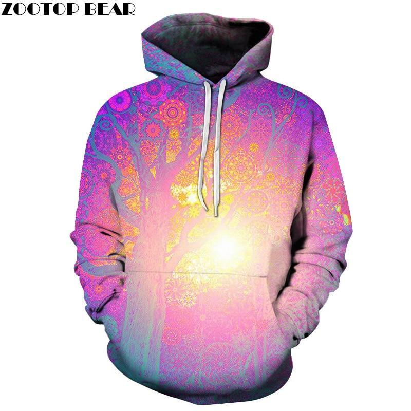 Sun Tree Printed Hoodies Men Women Sweatshirts Fashion 3D Pullover Hooded Casualdresskily-dresskily