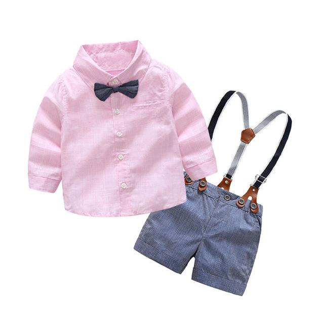Baby Boys clothing sets fashion baby boy suits formal gentleman short sleevedresskily-dresskily