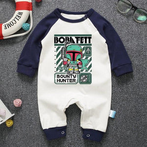 2017 Newborn Clothing Pajamas Star Wars Boba Fett Baby Boy Girl Rompersdresskily-dresskily