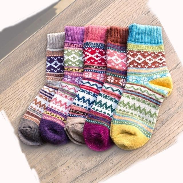 PEONFLY Winter Rabbit Wool funny Socks women Keep Warm Socks Woman Socksdresskily-dresskily