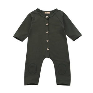Pudcoco Army Green Newborn Baby Romper Long Sleeve Infant Kids Jumpsuit Playsuitdresskily-dresskily