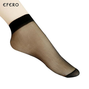 20Pair Thin Crystal Transparent Silk Socks For Summer Sexy Ultrathin Female Elasticdresskily-dresskily