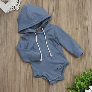 Cute Baby Boys Romper Hot Newborn Baby Boy Warm Long Sleeve Hoodeddresskily-dresskily