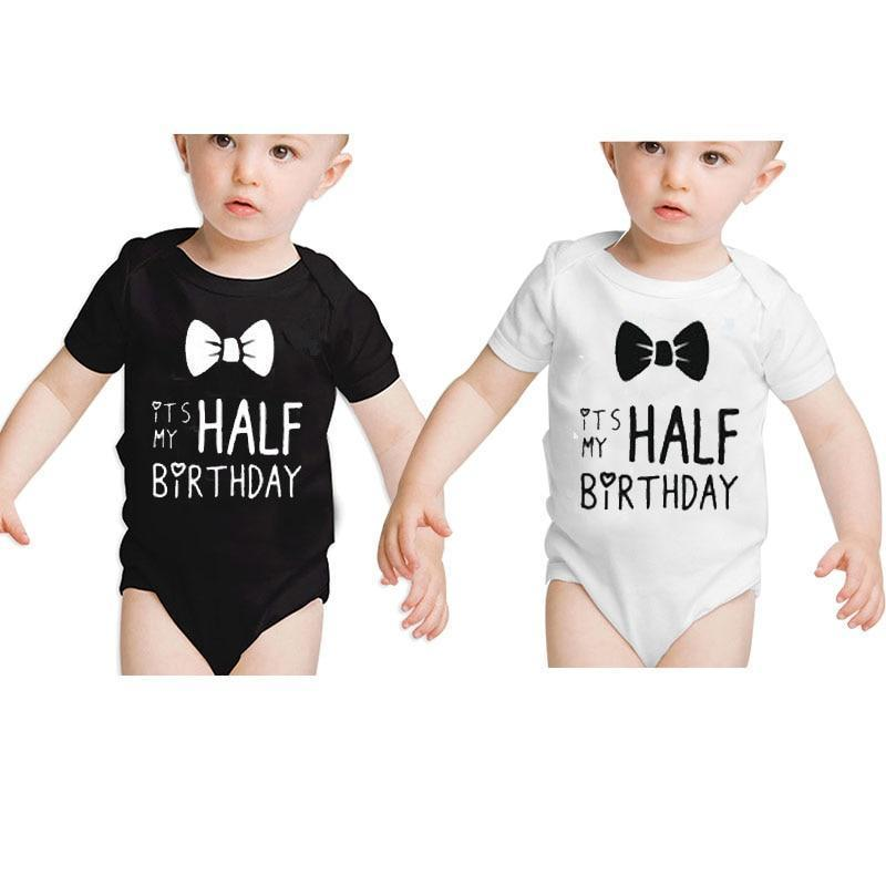 Twins Baby Clothes Half Birthday Boy Outfit, Its MY HALFdresskily-dresskily