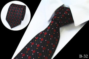 Dot & Floral & Check Patterned Ties For Men Mens 7CMdresskily-dresskily