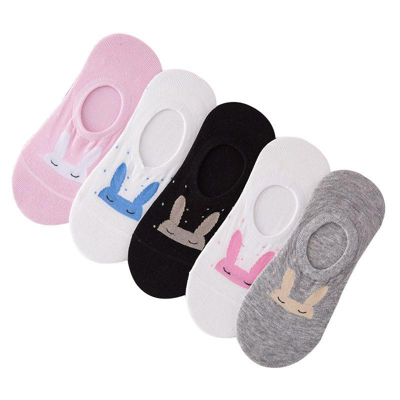 5 Pairs Women Socks Cute Cotton Ankle Sock Suit for Summer Springdresskily-dresskily
