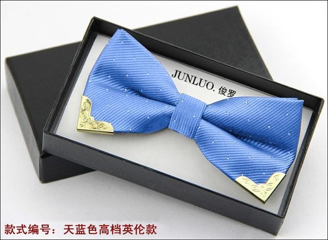 Fashion Men Bow Tie Fake Collar Women Silk Tie Butterfly Adjustable Bowtiedresskily-dresskily