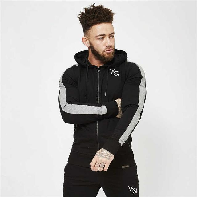 2018 New Men's fitness Hoodies Crossfit pullover Zipper jacket Sweatshirts Bodybuildingdresskily-dresskily