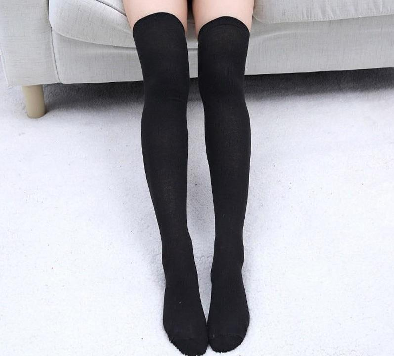 Women's Cotton Sexy Thigh High Over The Knee Socks Long Stockings Fordresskily-dresskily