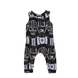 Cute Toddler Kids Baby Boy Star Wars Print Sleeveless Romper Jumpsuit Clothesdresskily-dresskily