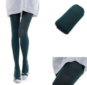 New Color Sexy Women's Opaque Footed Tights Slim Elastic Pantyhose Stockingdresskily-dresskily
