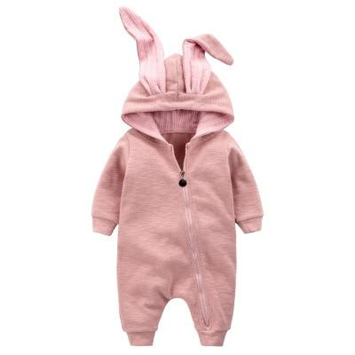 New Spring Autumn Baby Rompers Cute Cartoon Rabbit Infant Girl Boy Jumpsuitdresskily-dresskily