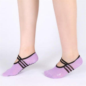 Women Anti Slip Bandage Cotton Fitness Yo ga Socks Ladies Ventilation Pilatesdresskily-dresskily