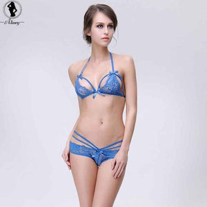 lace sexy bra set women solid ultra-thin wire free transparent bralettedresskily-dresskily