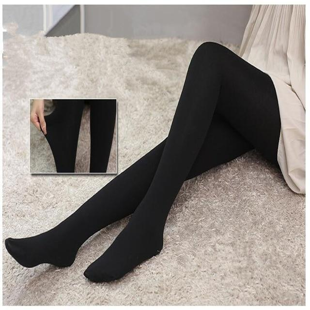 Sexy Women Warm Tights Slim Pants Microfiber Thermal Fleece Lined Stockings Pantyhosedresskily-dresskily