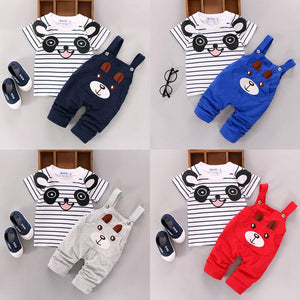 2017 Newborn Kids Baby Boy Girls Cartoon Panda T-shirt Tops And Pantsdresskily-dresskily